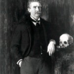 Ambrose Bierce with skull